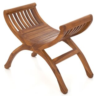 Holsworthy Light Teak Yuyu Stool By Bay Isle Home