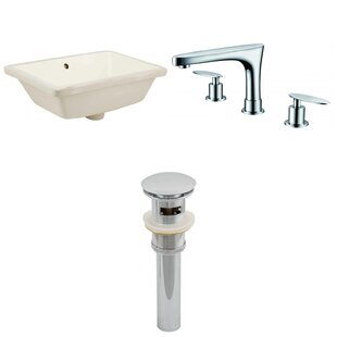 Where buy  CUPC Ceramic Rectangular Undermount Bathroom Sink with Faucet and Overflow By Royal Purple Bath Kitchen