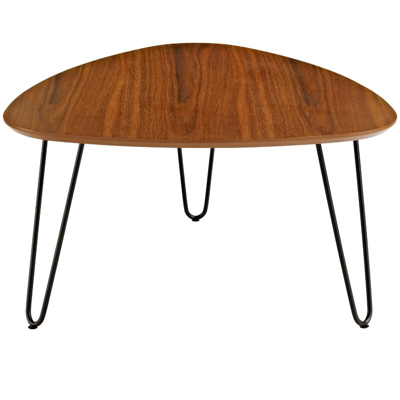 varick gallery bisson hairpin leg wood coffee table & reviews