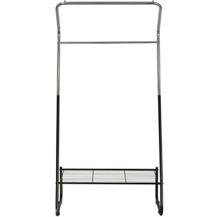 McCaysville 81cm Wide Metal Clothes Rack With Shelf By 17 Stories