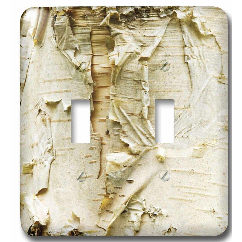 Birch Tree Wood Look Design Single Toggle Light Switch Wall Plate