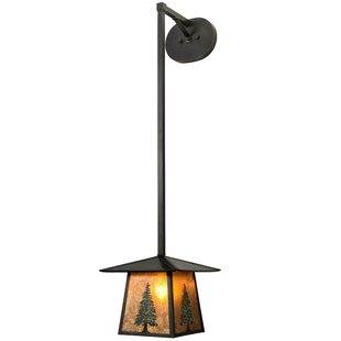 Greenbriar Oak 1-Light Foyer Pendant by Meyda Tiffany