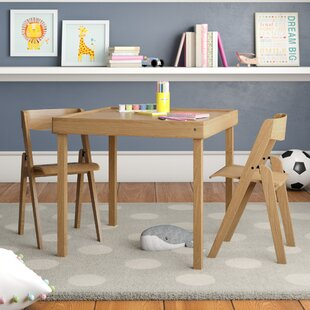 Aghacully Kids 3 Piece Square Table and Chair Set By Mack & Milo