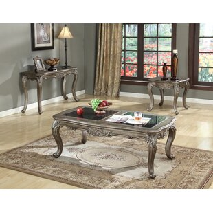 Astoria Grand Wensley 3 Piece Coffee Table Set