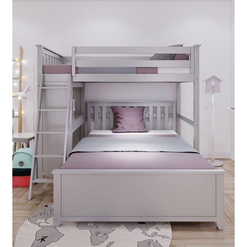 Harriet Bee Geyer Twin Over Full L-Shaped Bunk Bed | Wayfair