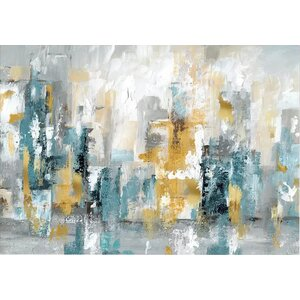 'City Views II' Painting Print on Wrapped Canvas