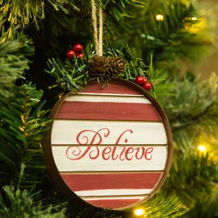 believe wooden and iron christmas ornament accessory