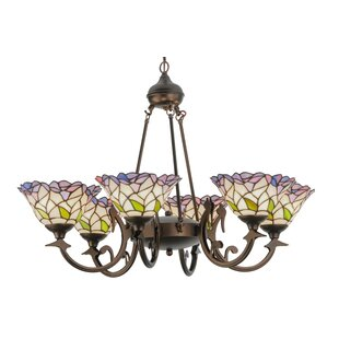 Meyda Tiffany Victorian Daffodil Bell 6-Light Shaded Chandelier