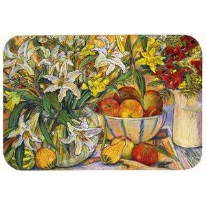 Fruit, Flowers and Vegetables Kitchen/Bath Mat