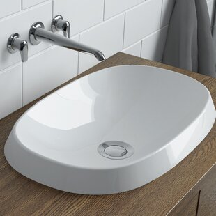 Online Reviews Rossini Polymarble Oval Vessel Bathroom Sink By Calma