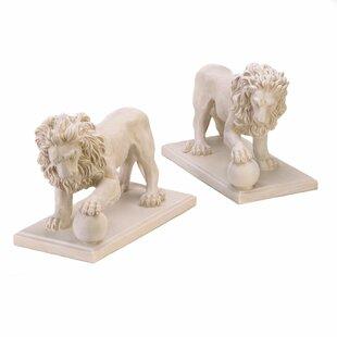 Zingz & Thingz 2 Piece Lion Pathway Statue