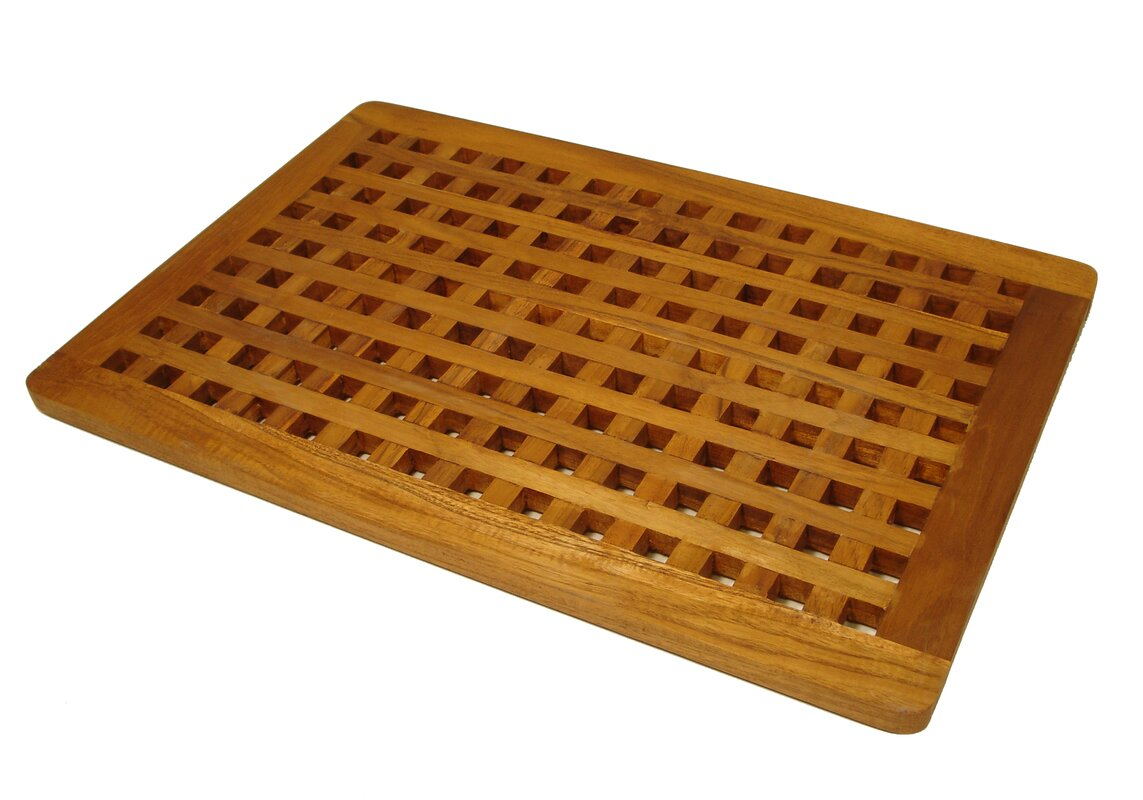 Aqua Teak Grate Teak Shower Mat & Reviews | Wayfair