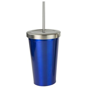 Stainless Steel 16 oz. Insulated Tumbler with Straw