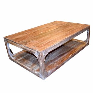 Wortham Wooden Coffee Table With Storage by Millwood Pines Comparison