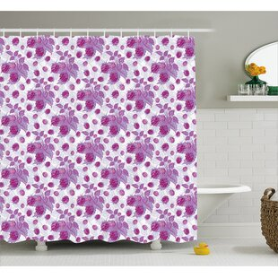 Carolus Vivid Rasberries Branch Shower Curtain + Hooks