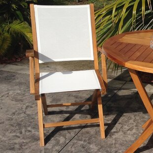 Miami Folding Teak Patio Dining Chair (Set of 2)