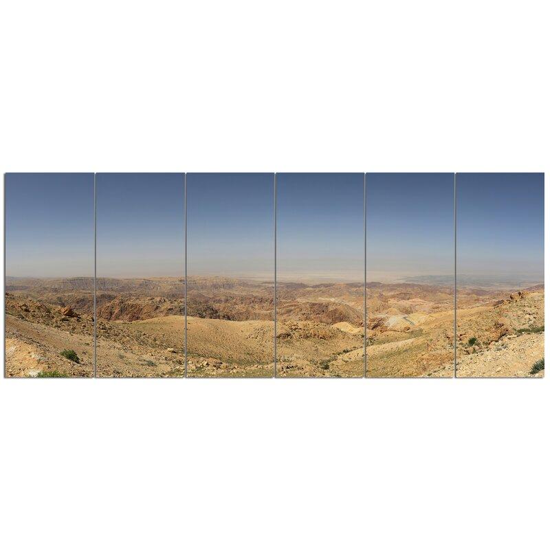 Designart Panorama Desert Hills Jordan 6 Piece Photographic Print Set On Canvas Wayfair