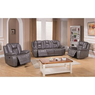 Fae Reclining 3 Piece Leather Living Room Set By Red Barrel Studio