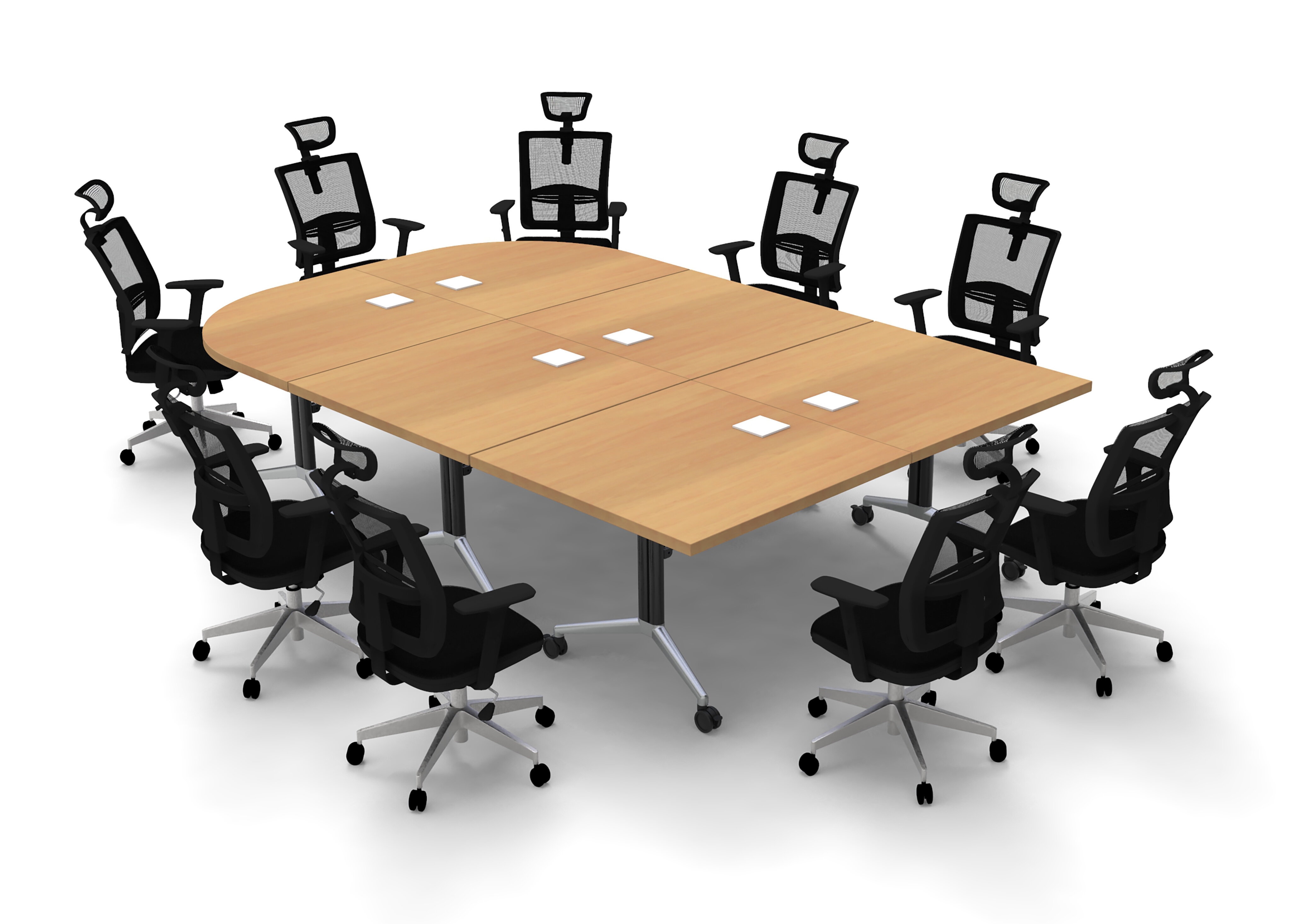 Inbox Zero Altheia Half Round Conference Table And Chair Set Wayfair