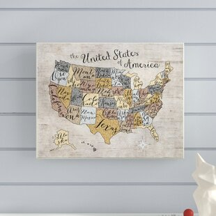 Rustic United States Map Wayfair