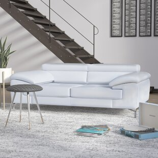 Twining Italian Leather Sofa By Wade Logan