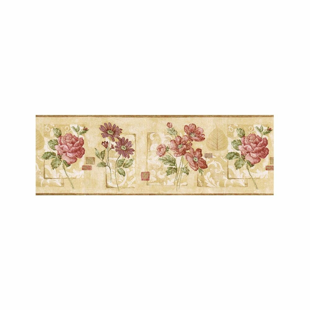 August Grove Granjeno Floral 15 L X 9 W Wallpaper Border Wayfair