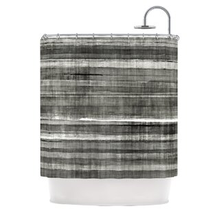 Grey Accent Shower Curtain