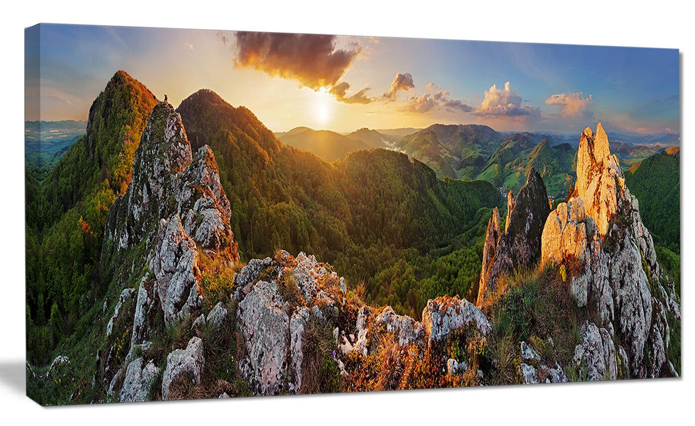 Millwood Pines Panorama Mountains Slovakia Photographic Print On Canvas Reviews Wayfair