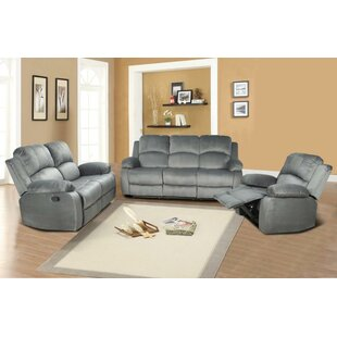 Kamdyn 3 Piece Reclining Living Room Set by Red Barrel Studio