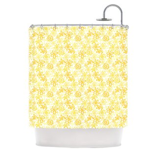 Paper Daisy Single Shower Curtain