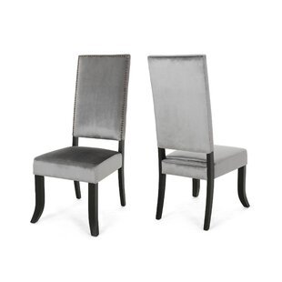 Callihan Upholstered Dining Chair (Set Of 2) by House of Hampton 2019 Sale