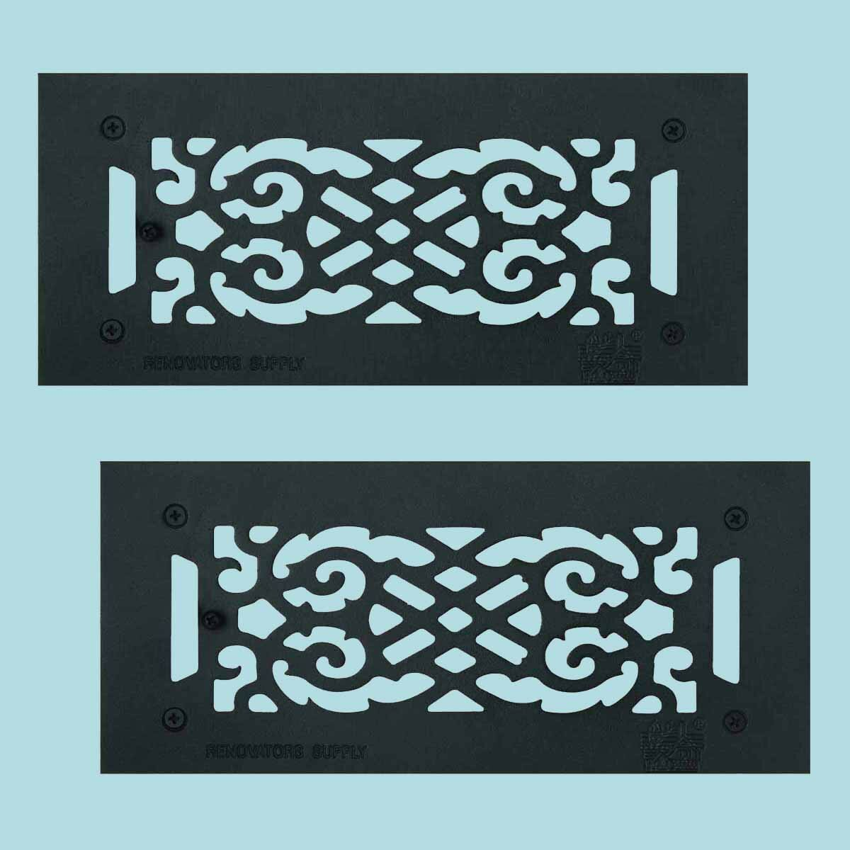 The Renovators Supply Inc 5 5 X 12 2 Floor Heat Register Louver Vent Cast In Blue Wayfair