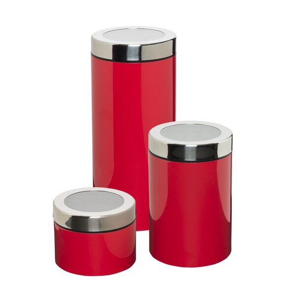 exceptional Vintage Looking Canister Sets Part - 13: Retro Red Canister Set | Wayfair