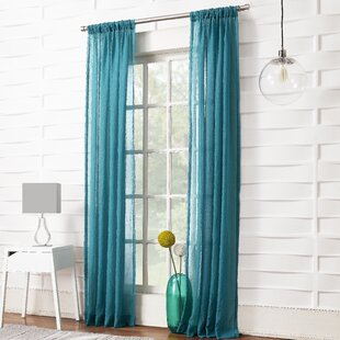 Marden Solid Sheer Rod Pocket Single Curtain Panel by Wrought Studio