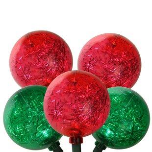 Northlight Seasonal LED Ornament with Tinsel Christmas Light (Set of 10)