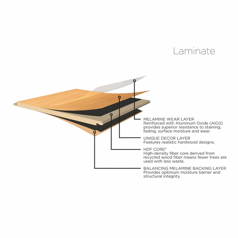 Alcott Hill Glencoe 5 X 48 X 14 3mm Laminate Flooring Reviews
