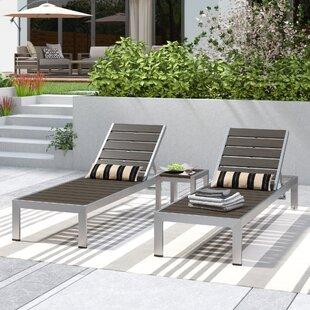 Coline 3 Piece Chaise Lounge Set by Orren Ellis