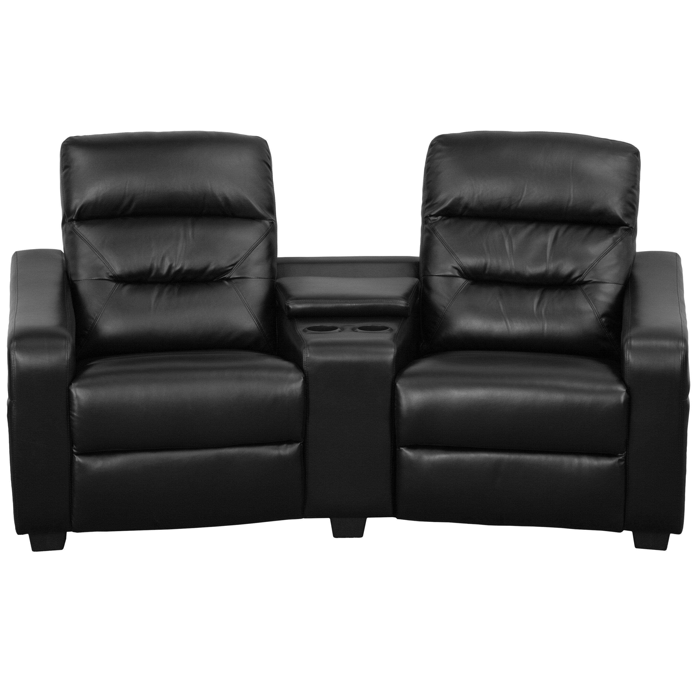 Tremendous Home Theater Loveseat Row Of 2 Spiritservingveterans Wood Chair Design Ideas Spiritservingveteransorg