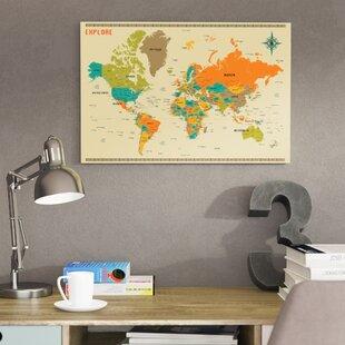 World map wall art save to idea board gumiabroncs Choice Image