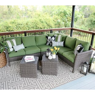 Daventry 6 Piece Sectional Set with Cushions by Three Posts