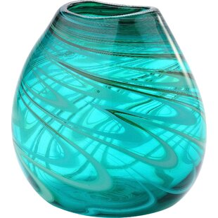 Orr Turquoise Glass Table Vase