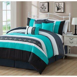 Ebern Designs Roseman Reversible Comforter Set