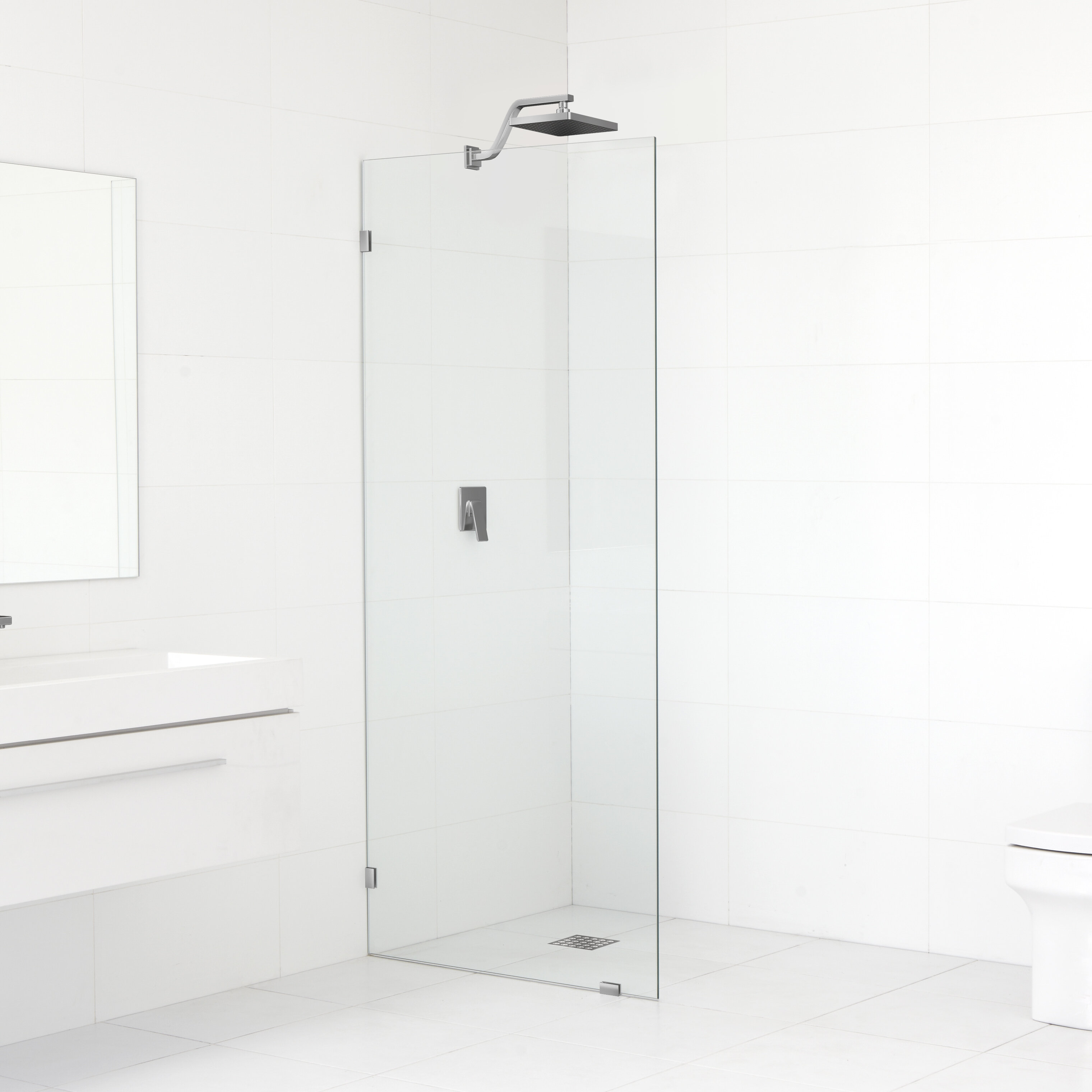 can i install glass shower panel
