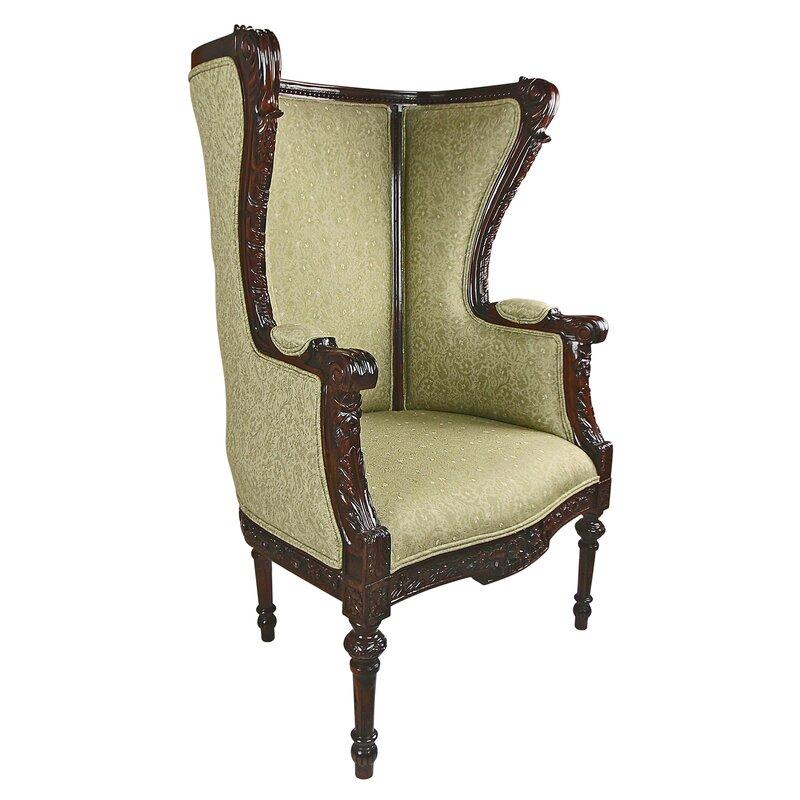 Louis XVI Wingback Chair Design Toscano Louis
