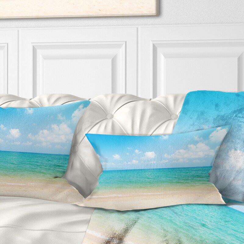 East Urban Home Wide View Of Tropical Beach Seashore Photo Lumbar Pillow Wayfair