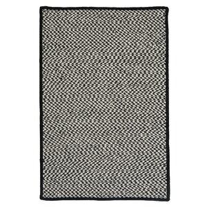 Outdoor Houndstooth Tweed Black Rug