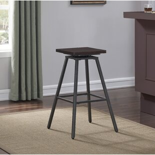 Kimiko Swivel Bar Stool by Williston Forge