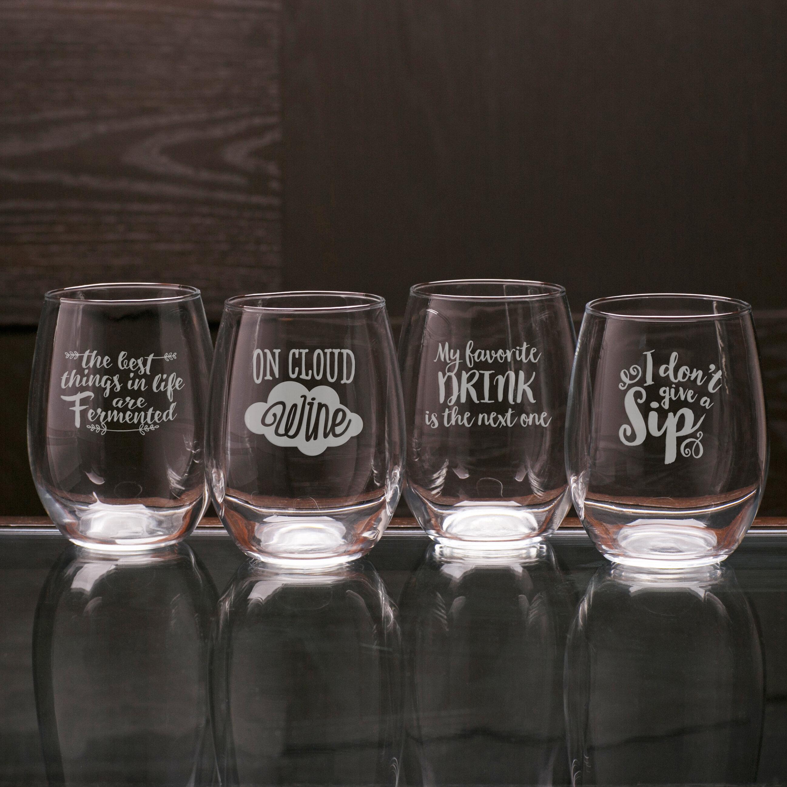 df175e6c661 Riggs 4-Piece 21 oz. Stemless Wine Glass Set