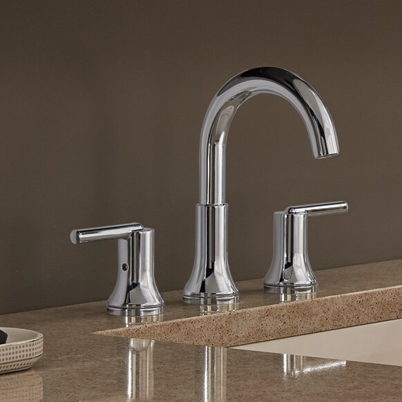 Trinsic® Bathroom Widespread Bathroom Faucet With Drain Assembly And  Diamond Seal Technology
