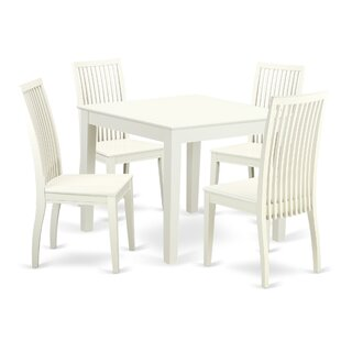 Cobleskill5 Piece Breakfast Nook Solid Wood Dining Set by Alcott Hill